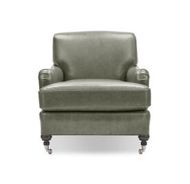 LONDON LEATHER CHAIR, MONT BLANC - FERN, hi-res
