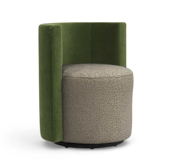 POPPY NO WELT FULL SWIVEL CHAIR, SHERPA - PEWTER, hi-res