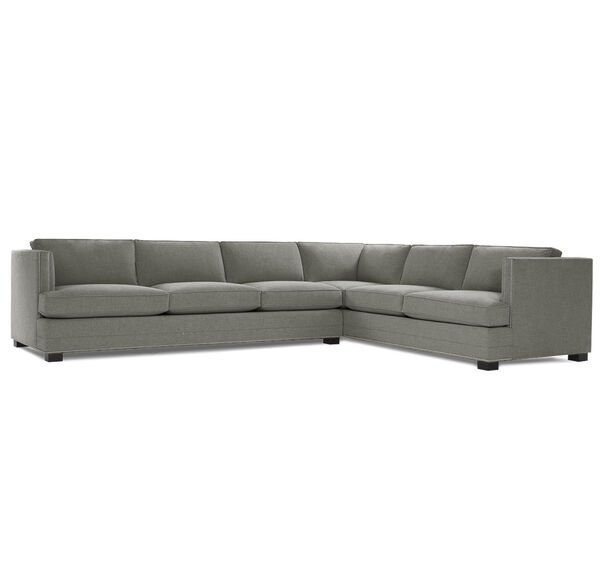 KEATON SHELTER LEFT ARM SECTIONAL CLASSIC DEPTH WITH NAILHEAD, FULMER - STEEL, hi-res
