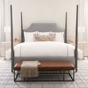 SUSSEX SCALLOPED QUEEN BED, VIVID - SILVER, hi-res