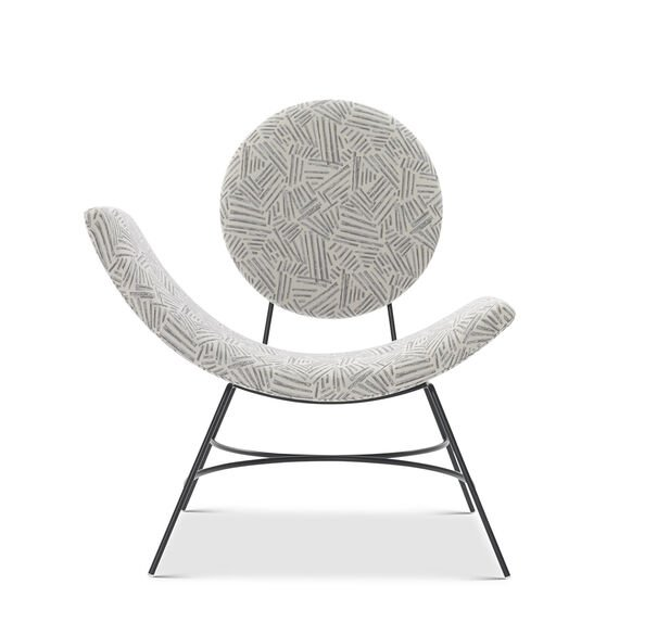 ELROY LEFT ARM CHAIR, KORBY - PEWTER, hi-res