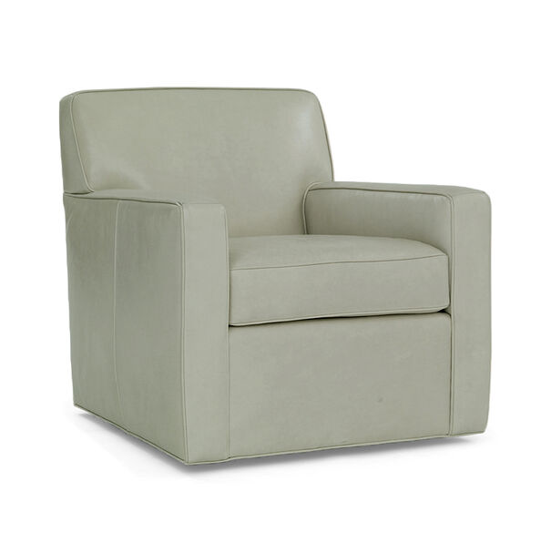FELIX LEATHER SWIVEL CHAIR, HIGHLAND - EUCALYPTU, hi-res