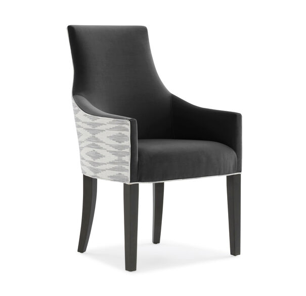 ADA ARM DINING CHAIR, VIVID - CHARCOAL, hi-res