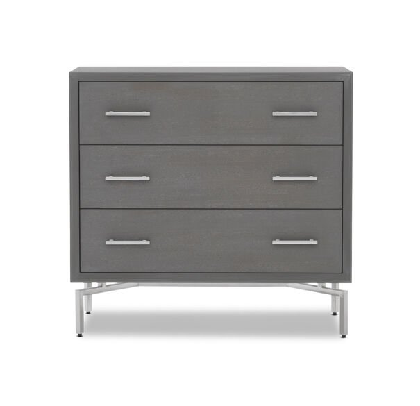 MING 3 DRAWER CHEST - GRAY / PSS, , hi-res