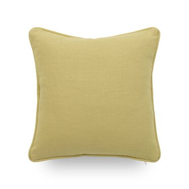 17 IN. SQUARE THROW PILLOW, BELGIAN LINEN - LIMON, hi-res