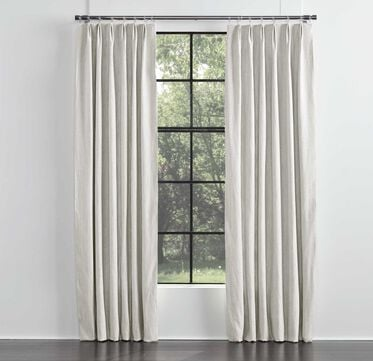 LEGACY BASIC SINGLE PANEL EURO PLEAT, LEGACY - PARCHMENT, hi-res