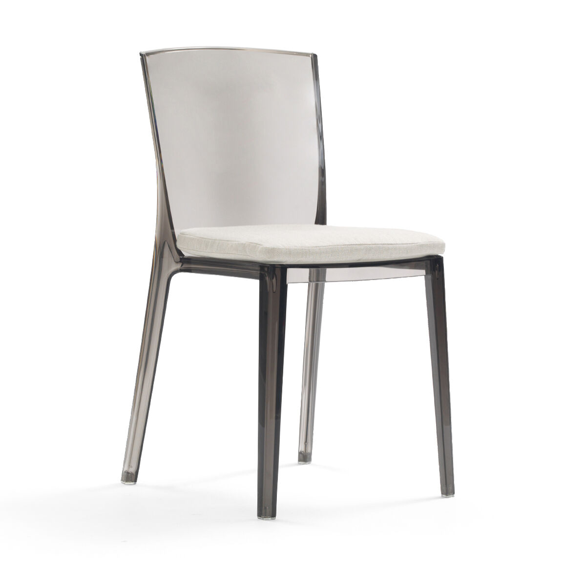 Superbe ALAIN SMOKE SIDE DINING CHAIR WITH CUSHION, , Hi Res