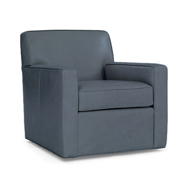 FELIX LEATHER SWIVEL CHAIR, HIGHLAND - DENIM, hi-res