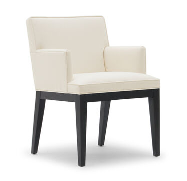 CAMERON ARM DINING CHAIR, RIDLEY - CREAM, hi-res