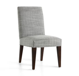 ANTHONY SIDE DINING CHAIR, Two Tone Heavy Weight Basket Weave - PEWTER, hi-res