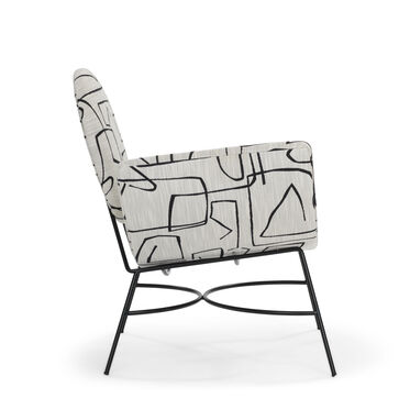 ELROY LEFT ARM CHAIR, SHILO - ONYX, hi-res