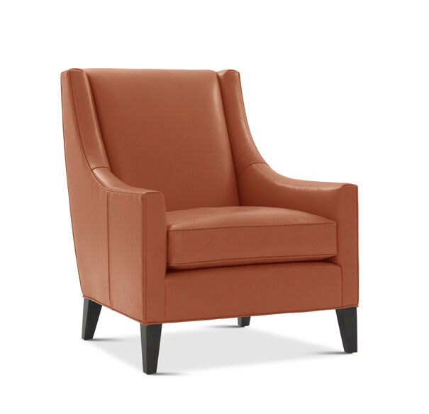 CARA LEATHER TALL CHAIR, ROJO - ORANGE, hi-res