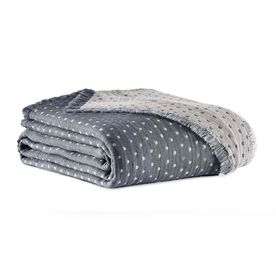 DOTS COTTON THROW, , hi-res