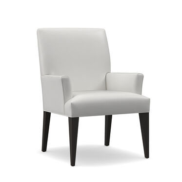 ANTHONY LEATHER ARM DINING CHAIR, TAHOE - WHITE, hi-res