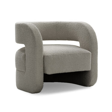 KIRBY CHAIR, SHERPA - PEWTER, hi-res
