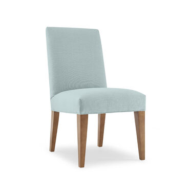 ANTHONY SIDE DINING CHAIR, Performance Textured Linen - SKY BLUE, hi-res