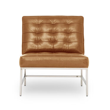 MAJOR LEATHER CHAIR, MONT BLANC - FAWN, hi-res