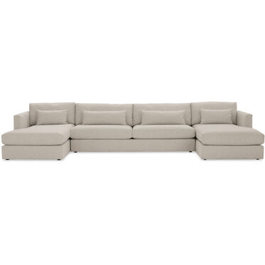 HAYWOOD U-CHAISE SECTIONAL, SOL - PEWTER, hi-res