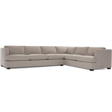 KEATON NAILHEAD TRIM LEFT SECTIONAL SOFA, FULMER - TAUPE, hi-res