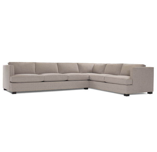 KEATON SHELTER LEFT ARM SECTIONAL CLASSIC DEPTH WITH NAILHEAD, FULMER - TAUPE, hi-res