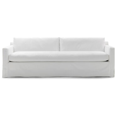 HUNTER LONG SLIPCOVERED SOFA, DENIM - BLEACHED WHITE, hi-res