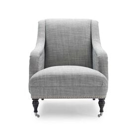 ODETTE CHAIR, Two Tone Heavy Weight Basket Weave - PEWTER                             , hi-res