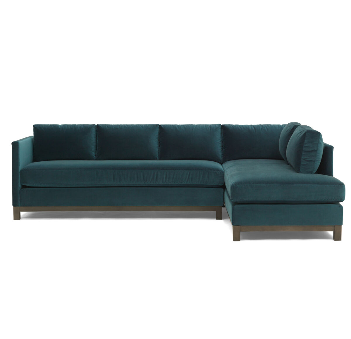 CLIFTON LEFT SECTIONAL, VIVID   PEACOCK, Hi Res