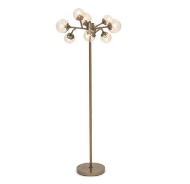 Savoy floor lamp vintage brass hi res