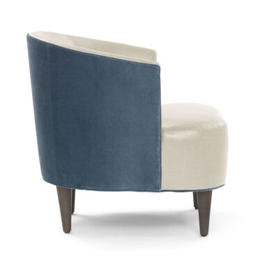 COSTELLO LEATHER CHAIR, MONT BLANC - IVORY, hi-res