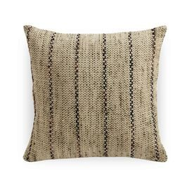 NATURAL NARROW STRIPE 20 X 20 PILLOW, , hi-res