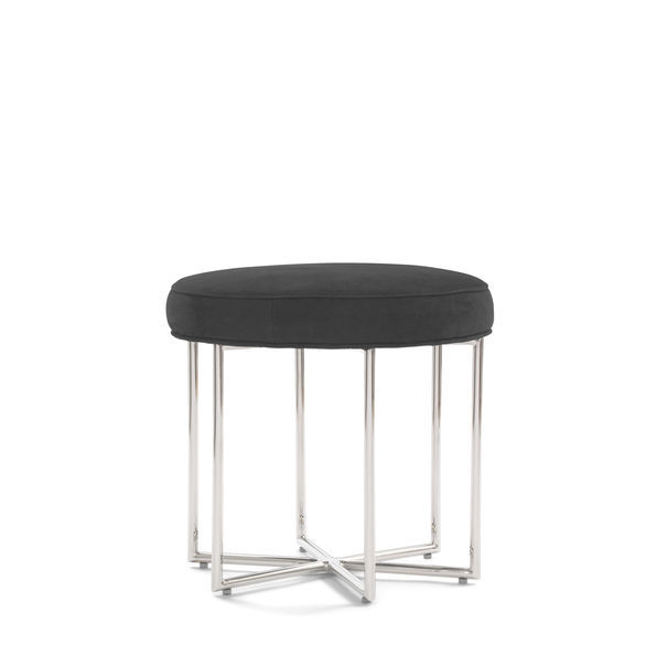ASTRA LEATHER PULL-UP STOOL, NUBUCK - ESPRESSO, hi-res