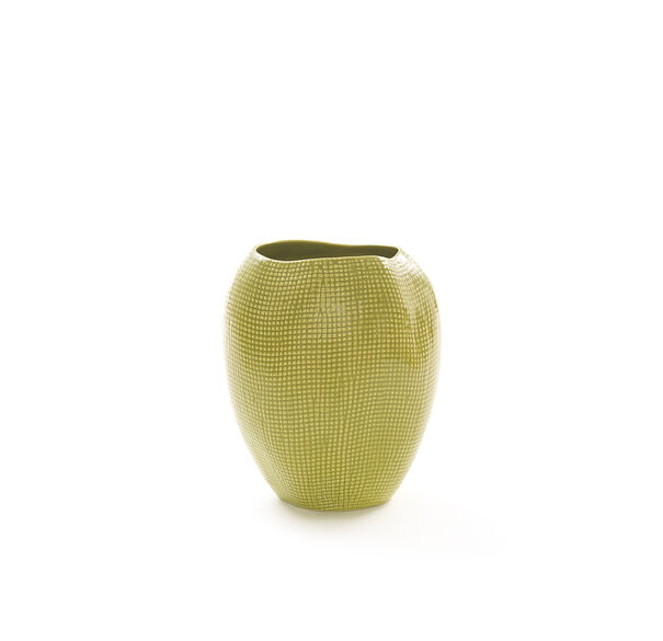 TEXTURED LIME VASE - MEDIUM, , hi-res