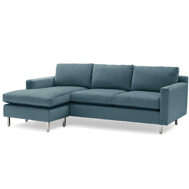 HUNTER STUDIO NO WELT 85 LEFT CHAISE SECTIONAL, PIPPIN - TEAL, hi-res