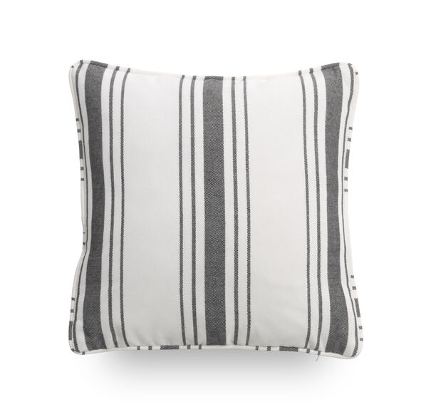 17 IN. SQUARE THROW PILLOW, SALVADOR - BLACK & W, hi-res