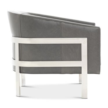 AVERY LEATHER CHAIR, TUSCANY - GREY SLATE, hi-res