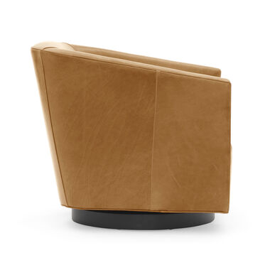 COOPER STUDIO LEATHER FULL SWIVEL CHAIR, MONT BLANC - FAWN, hi-res
