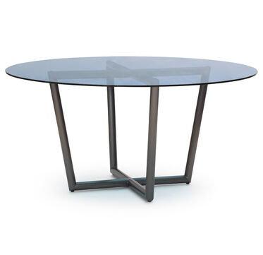 MODERN ROUND DINING TABLE - PEWTER, , hi-res