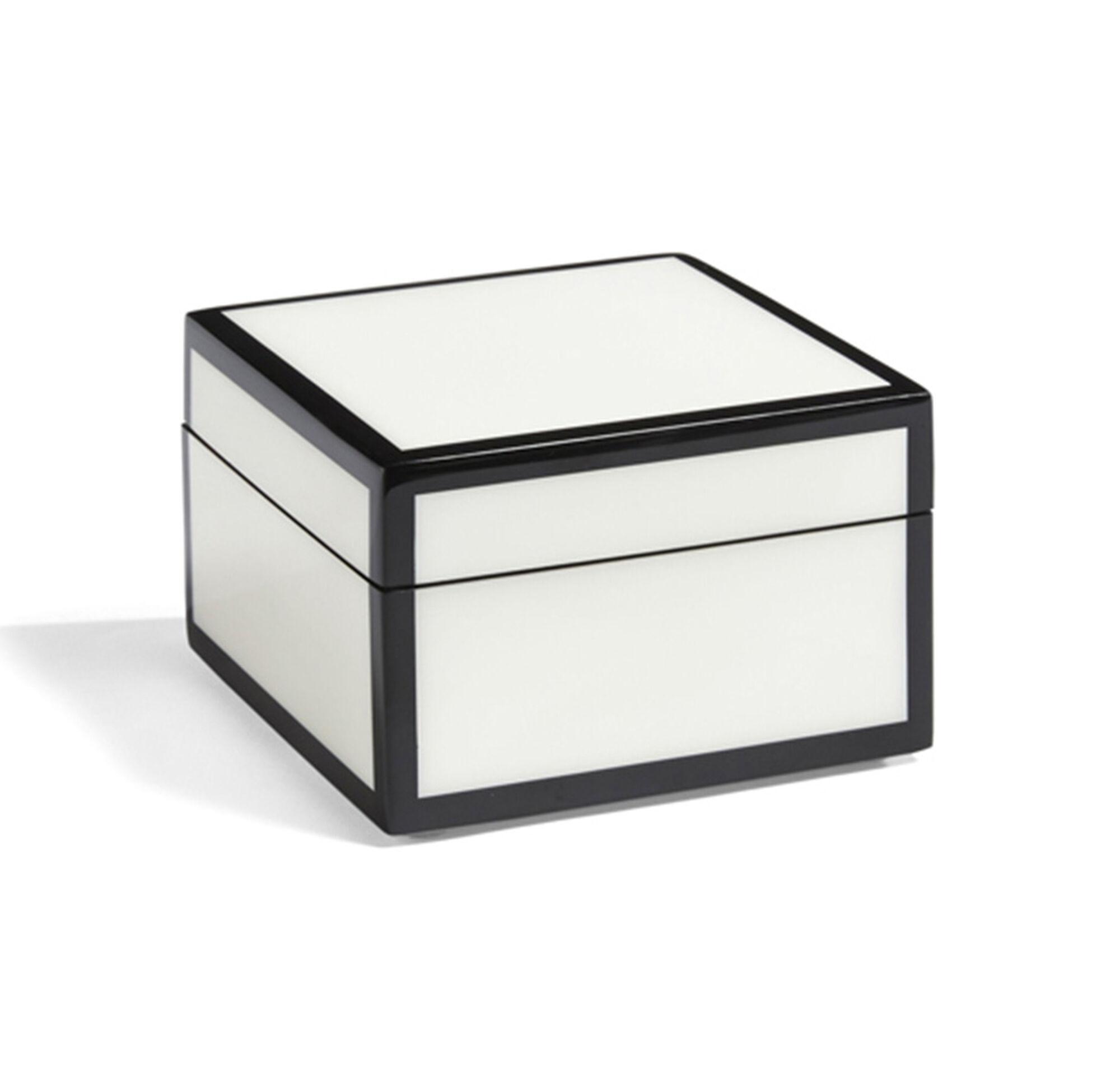 BLACK AND WHITE LACQUER BOX SMALL