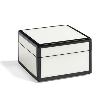 BLACK AND WHITE LACQUER BOX - SMALL, , hi-res