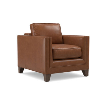 REESE LEATHER CHAIR, CAPETOWN - CHESTNUT, hi-res