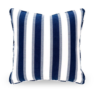 22 IN. SQUARE THROW PILLOW, LENA - INDIGO, hi-res