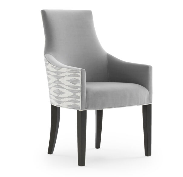 ADA ARM DINING CHAIR, VIVID - SILVER, hi-res