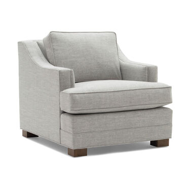 KEATON  SLOPE ARM CHAIR STUDIO DEPTH, NUANCE - DOVE, hi-res