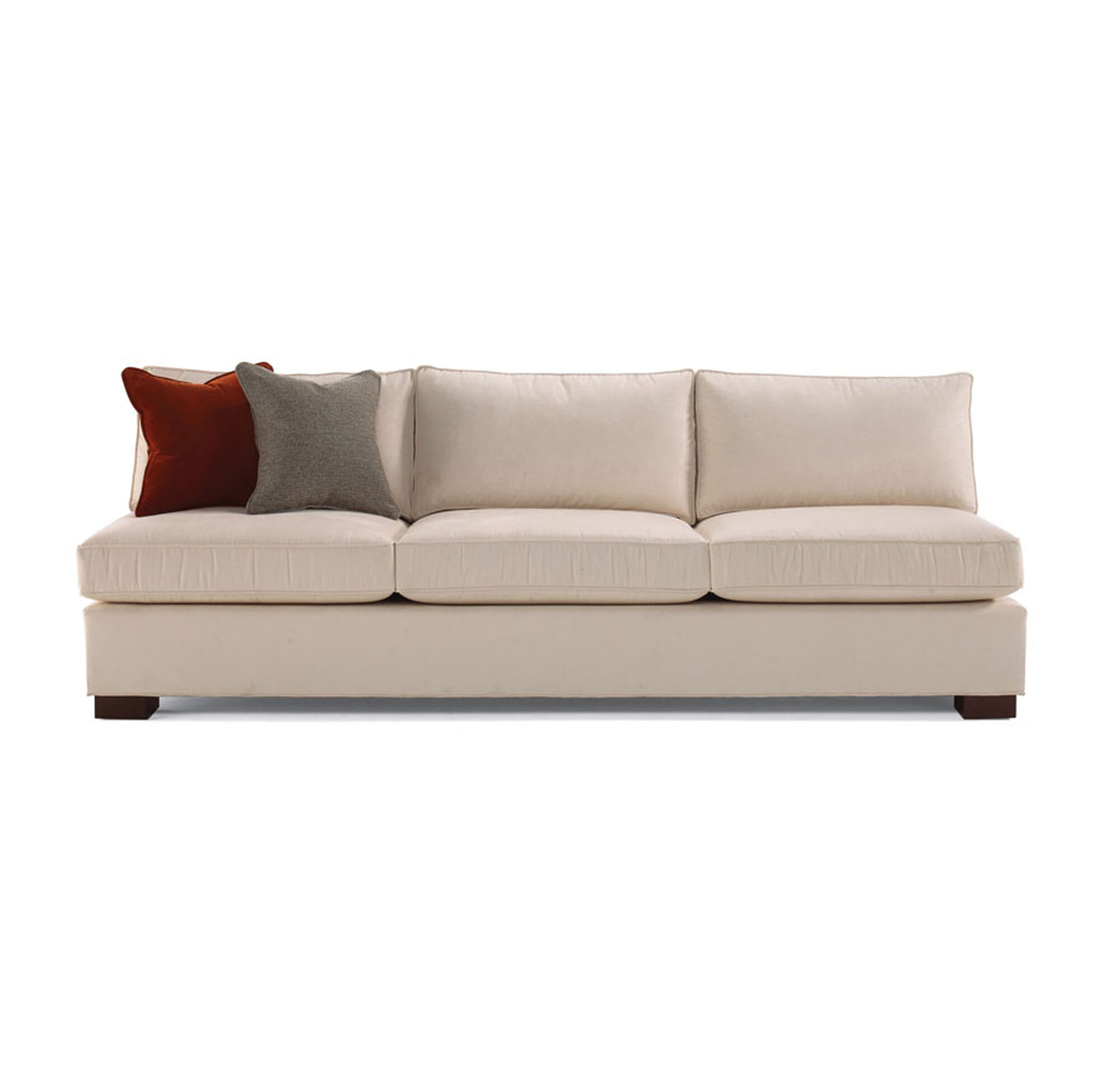 sofa collection armless for associates pearsall a attached by couch craft unique tables pin adrian with from