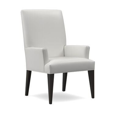 ANTHONY LEATHER TALL ARM DINING CHAIR, TAHOE - WHITE, hi-res