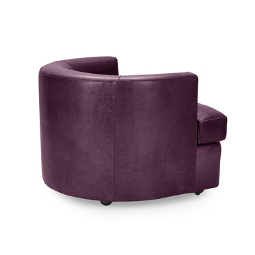RYDER LEATHER CHAIR, MONT BLANC - AUBERGINE, hi-res