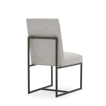 GAGE LOW DINING CHAIR - PEWTER, COSTA - SILVER, hi-res