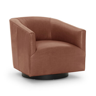 COOPER LEATHER RETURN SWIVEL, MONT BLANC - CHIANTI, hi-res