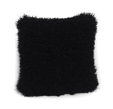 TIBETAN WOOL BLACK 20 IN. SQUARE THROW PILLOW, , hi-res