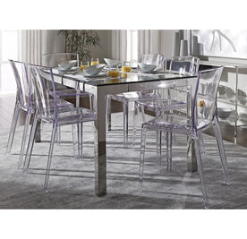 ALAIN CLEAR SIDE DINING CHAIR, , hi-res